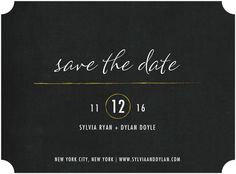 Simply Radiant - Signature White Save the Date Cards - Magnolia Press - Black : Front