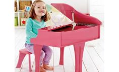 Hape Toys Early Melodies Pink Wooden Happy Grand Piano for Toddlers & Children Piano Bar, Hape Toys, Music Stand, Baltic Birch Plywood, Grand Piano, Toys Online, Toy Boxes, Toy Store, Building Design