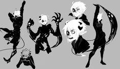 Skye (OC) | character/concept design sketches by kada-bura on tumblr