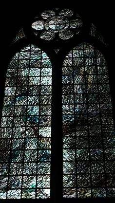 stained glassed windows from the cathedral in Reims.... ancient windows which have no description there. some of the most beautiful windows I have ever seen.....