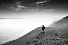 """Hiking in France: We were hiking with my grandmother when we discovered a perfect point of view on a big """"sea of fog"""" a little overexposed between Alps mountains (in the background) and the Jura mountains. I didn't believe the light could be so perfect.  Submitted by Nicolas for World Photo Day 2016  #worldphotoday #global #photography #celebration #photo #photos #pic #pics #picture #photoaday #snapshot #art #beautiful #instagood #picoftheday #photooftheday #photograph #justgoshoot…"""
