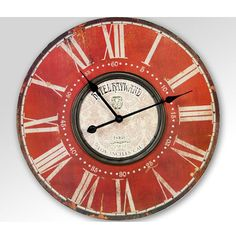 Clock, Wall, Home Decor, Red Watches, Watch, Homemade Home Decor, Clocks, Decoration Home, The Hours
