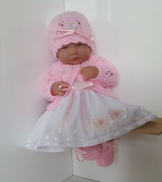 "Handmade Baby Dolls Clothes for 14"" dolls - BERENGUER / CUPCAKE La Newborn / Reborn or similar"