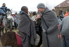 June 2010 - The prince was enthusiastic as he met with young students of the Herd Boys school in the Lesotho village