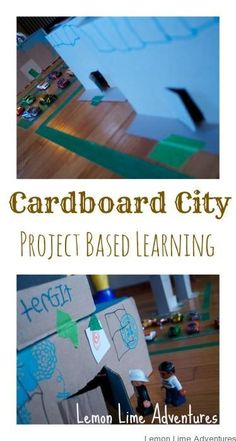 Cardboard City  Recycled building and engineering project for kids