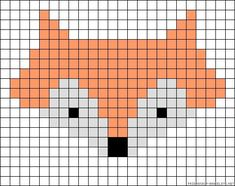 46 Ideas For Knitting Charts Fox Perler Beads Bead Loom Patterns, Beading Patterns, Embroidery Patterns, Cross Stitch Patterns, Bracelet Patterns, Knitting Charts, Baby Knitting Patterns, Knitting Stitches, Knitting Ideas