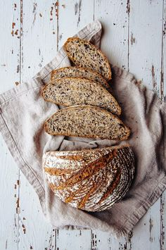 Multigrain Seeded Bread — (bread recipes with yeast healthy) Sourdough Bread, Multigrain Bread Recipe, Yeast Bread, Vegan Bread, Seed Bread, Dessert Blog, Bread And Pastries, Artisan Bread, Bread Baking