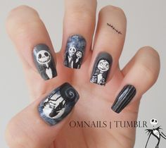 Nightmare Before Christmas nail art
