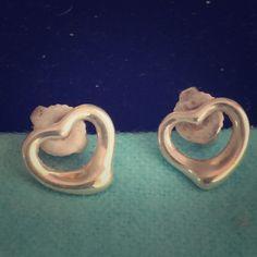Tiffany silver post earrings Elsa Peretti open heart earrings Tiffany & Co. Jewelry Earrings
