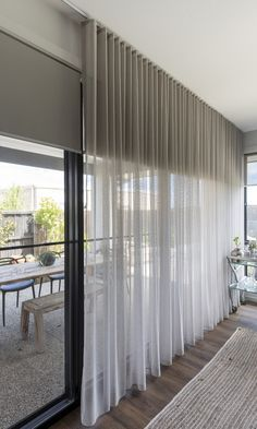 Home Curtains Sheer Curtains Bedroom, High Curtains, Living Room Decor Curtains, Curtains And Blinds Together, Curtains Over Blinds, Sheer Drapes, S Wave Curtains, Blinds And Curtains Living Room, Curtains Walmart
