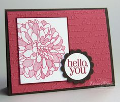 Regarding Dahlias Card by eschader - Cards and Paper Crafts at Splitcoaststampers