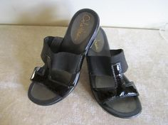 Cole Haan Nike Air Design BLACK PATENT LEATHER Sandals
