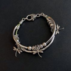 Friendship Bracelets, Beaded Bracelets, Charm Bracelet, Leather Bracelet, Boho Bracelet, Girlfriend Bracelets, Boho Jewelry, Dragonfly Charm