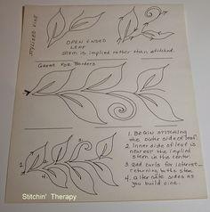 Terapia Stitchin ': Livre Movimento estilizado Vine Tutorial
