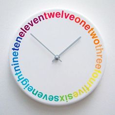Colours Clock by Richard Shed