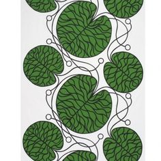 Marimekko 'Bottna' fabric wall art in green, black and white Graphic Patterns, Textile Patterns, Textile Design, Fabric Design, Print Patterns, Pattern Design, Nail Patterns, Quilting Patterns, Fabric Wall Art