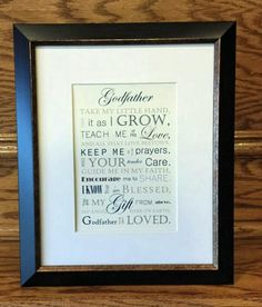 Godfather Gift Baptism Gift for Godparents by SayitinStyleArt
