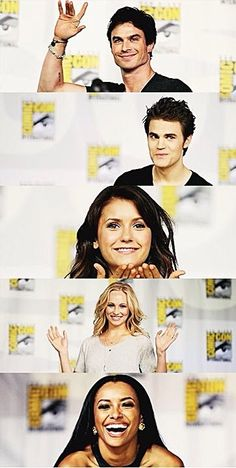 Ian Somerhalder, Paul Wesley, Nina Dobrev, Candice Accola and Kat Graham - The Vampire Diaries