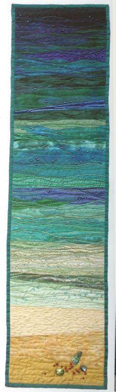 "seascape by Gail Lawther- pattern in her book ""Glimpses of New Zealand"""
