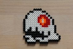 Bubble Bobble Ghost hama beads by Sanne Junkuhn
