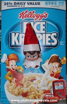 elf on yhe shelf rice krispies box - Google Search