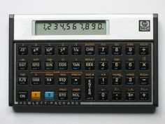 Vintage Hewlett Packard Calculator with Slipcover Case HP Sin Cos Tan, 8 Bits, Gadgets, Slide Rule, Button Cell, Hewlett Packard, Old Computers, Me On A Map, Abs