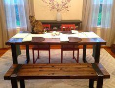 Industrial Dining Table - Reclaimed Oak