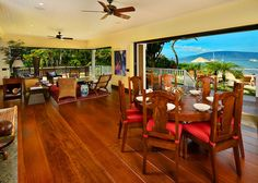 Oceanfront Sitting and Dining Great Room