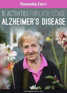 Rather than focusing on the disease and impairment, we should aim to identify each person's strengths and remaining abilities and find activities to support these. Here are 15 ways to support and engage people living with late stage Alzheimer's Disease. Nursing Home Activities, Elderly Activities, Senior Activities, Therapy Activities, Spring Activities, Exercise Activities, Physical Activities, Outdoor Activities, Cognitive Activities