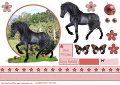 Horse with apple on Craftsuprint - Add To Basket!