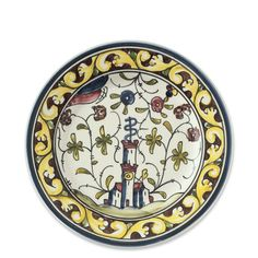 "Provence Salad Plate, Set of 4 - ""The classic hand-painted pattern of these earthenware salad plates is a longtime Williams-Sonoma favorite. Its 17th-century depiction of forests, castles and animals is based on traditional European folklore. Each bowl is crafted at a small Portuguese pottery where ceramists rely on time-honored techniques to meticulously decorate it by hand."""