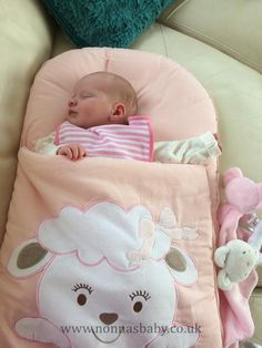 """Baby Annie is such a little cutie in her Nap Mat. She looks so peaceful and content in her Cotton Candy Nap Mat, which was a gift from Auntie Leanne. Thanks to mummy Leona who said """"it is great for taking with us if we are going visiting."""" • More about Nap Mats: https://nonnasbaby.co.uk/baby-nap-mats/"""
