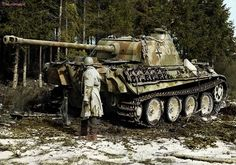 "Panther Panzerkampfwagen V Ausf. G,Red 302 of the Panzer Division ""Windhund"", Houffalize"