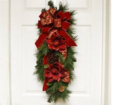 Christmas Wreath- Red Magnolia Pine Door Swag CR4842(60)