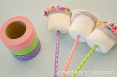 Washi tape on sticks