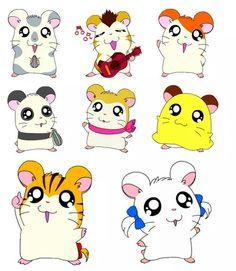 Oxnard, Hamtaro, Panda, Venelope, Sandy, Pashmina, Jingle, Bijou; Hamtaro