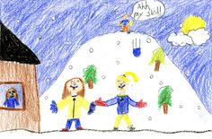 FRIDAY'S WEATHER FORECAST: Slick roads, snowy days, high of 28. Frenchtown Elementary School student Chloe Long, age 9, created today's weather picture. Weather art from Montana kids runs every day in the Missoulian.