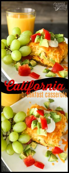 Our California Breakfast Casserole is loaded with sausage, avocados, and tomatoes. The perfect savory breakfast for get togethers with family and friends. #breakfastcasserole #avaocados #tomatoes #cheddarcheese #eggs #hashbrowns