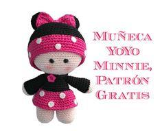 Muñeca Minnie amigurumi
