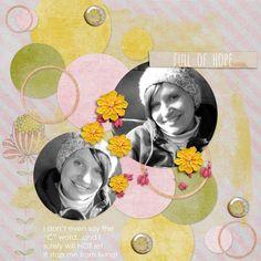 Template: Lindsay Jane Designs April Challenge free template at Gotta Pixel  Kit: Full Of Hope page kit by Joyful Heart Designs at Gotta Pixel (Exclusive Pixel Club kit)