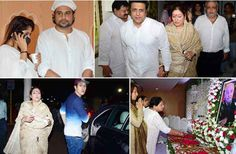 Comedian Krishna Abhishek in Mumbai yesterday was Father's prayer meeting in which Govinda arrived with his family as well as some television stars arrived.