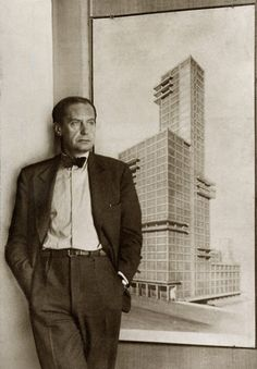 "Walter Gropius (1883-1969) architect.  He enlisted a generation of artists in a struggle to solve problems of visual design created by industrialism. It was hoped that the artistically trained designer could ""breathe a soul into the dead product of the machine,"" for Gropius believed that only the most brilliant ideas were good enough to justify multiplication by industry."