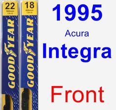 Front Wiper Blade Pack for 1995 Acura Integra - Premium