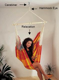 How to hang hammock chair from ceiling hanging for How to hang a hammock in a room