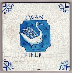 Swan Field - faux tile by Paul Bommer on Etsy