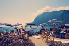 La Fontelina Beach Club in Capri photographed by Gray Malin