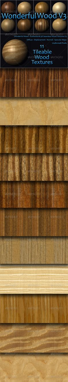 Wonderful Wood Volume Three — Photoshop PSD #textures #displacement • Available here → https://graphicriver.net/item/wonderful-wood-volume-three/157833?ref=pxcr