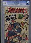 AVENGERS 4 the return of CAPTAIN AMERICA cgc graded 45 marvel KEY comic