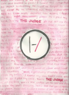 sassykylesimmons:  You're the Judge, oh no, set me free (water color pencils)