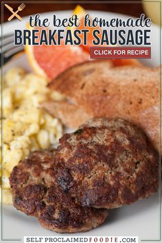 Breakfast sausage is easy to make with ground pork, sage, and just the right seasonings. You can form it into patties or use it for recipes like biscuits and gravy. This recipe is super flavorful!